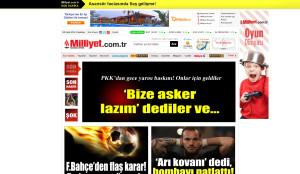 Milliyet.com.tr'de çıkan oyun bölümü reklamı